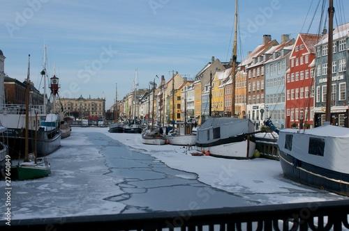 Ice braking in Nyhavn Poster