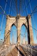 Manhattan Brooklyn Bridge closeup