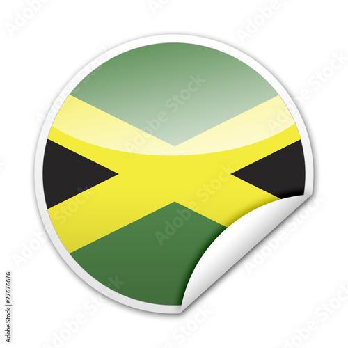 Photo Pegatina bandera Jamaica con reborde