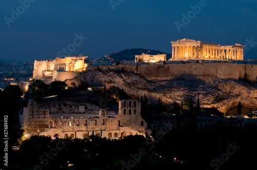 Fotobehang Athene Acropolis at dusk