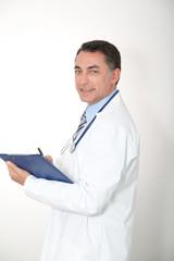 Closeup of doctor