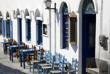 Empty Greek Cafè - Astypalea Island - Greece