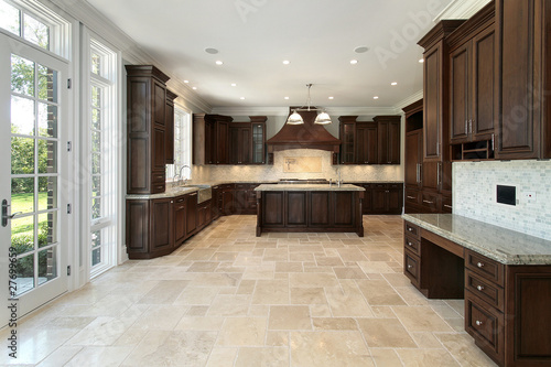Fotomural  Large kitchen in new construction home