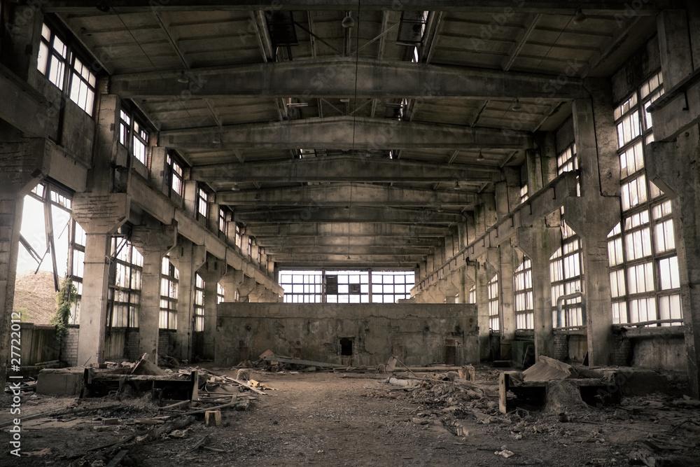 Fototapeta Abandoned Industrial interior
