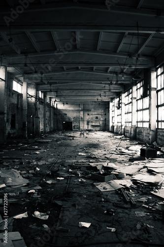 Papiers peints Les vieux bâtiments abandonnés Abandoned Industrial interior