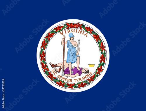 Fotografie, Obraz  Virginia state flag