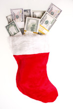 Christmas Stocking Full Of Cash.