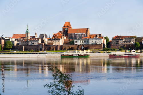 Panorama of Torun -Vistula river,Poland