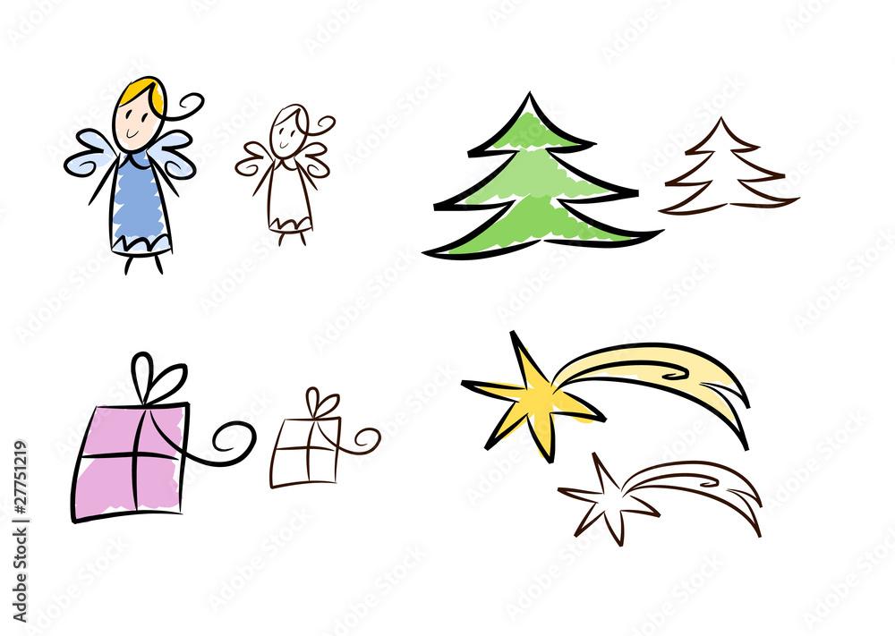 Weihnachten Clipart.Gamesageddon Stock Clipart Set Weihnachten Und Advent 2