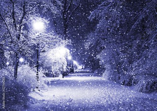 zimowa-aleja-w-nocy