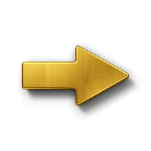 Arrow Pointing Right In Gold
