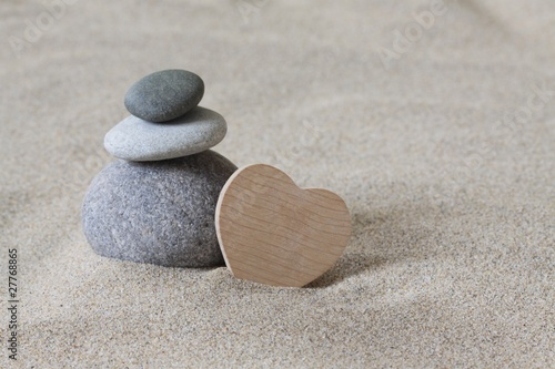 Photo sur Plexiglas Zen pierres a sable zen