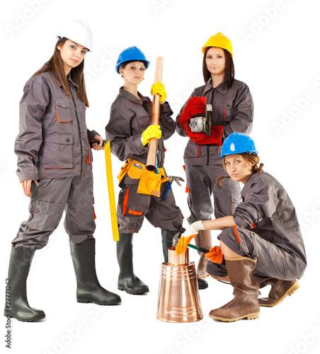 Valokuva  Female construction workers