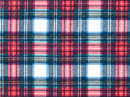 Photo  Full Frame Background of Red and Blue Plaid Fabric