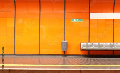 Foto auf AluDibond Bahnhof Bahnhof