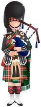 Scottish Bagpiper Soldier In U...
