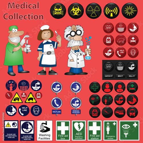 Plakaty BHP zbiory-medyczne-zwiazane-z-grafika-w-tym-bajki-z-ikonami
