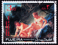 Fujeira Stamp Painting Francois Boucher, Diana Leaving Her Bath