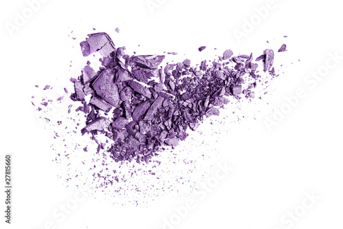 crushed eyeshadow isolated on white buy this stock photo and