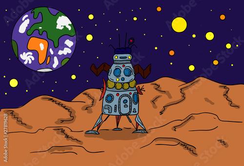 Foto op Canvas Kosmos space