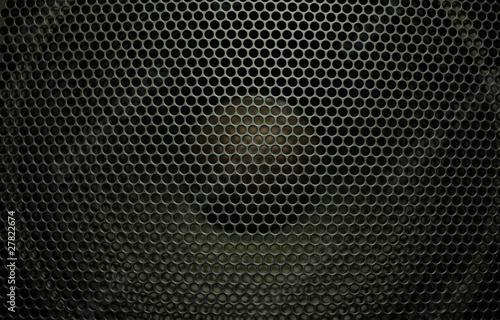 Black audio speaker Canvas Print