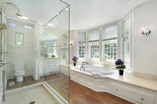 Canvas-taulu White luxury master bath