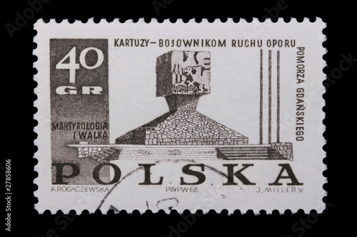 Fotografia  Poland - CIRCA 1968: A stamp - Resistance fighters