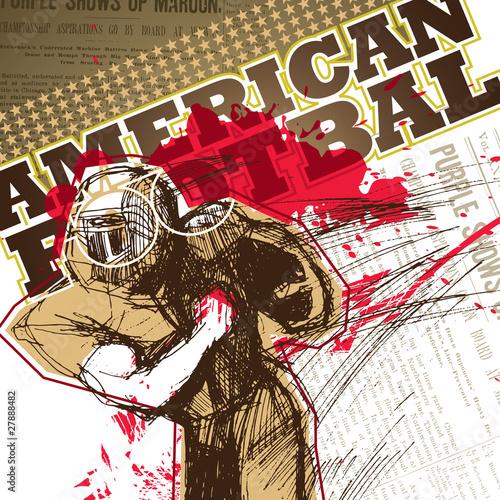 zaprojektowany-baner-z-futbolu-amerykanskiego-gracza