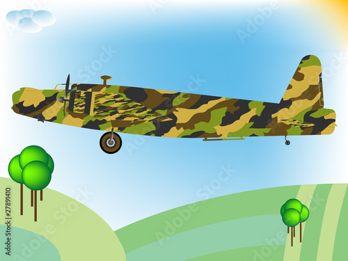 Poster Militaire old military airplane