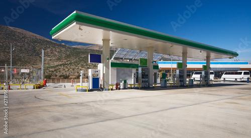 Fotografie, Obraz  Tankstelle im Taurusgebirge