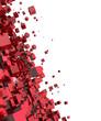 3D - Hintergrund - Flying Cubes Red 01