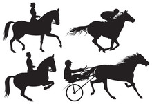 Equestrian Sport Horses And Riders