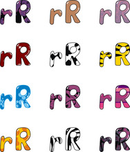 Letter R Cartoon