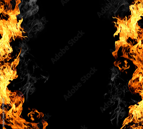 Aluminium Prints Flame fire