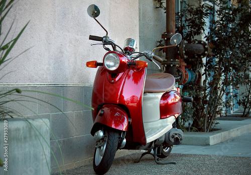 Deurstickers Fiets scooter