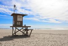 Newport Beach California Lifeguard Tower