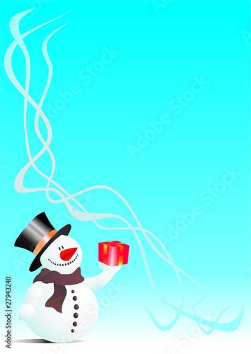 Weihnachtsgrußkarte / Grußkarte mit weihnachtlichem Hintergrund