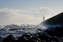 Tynemouth Pier In Stormy Weather