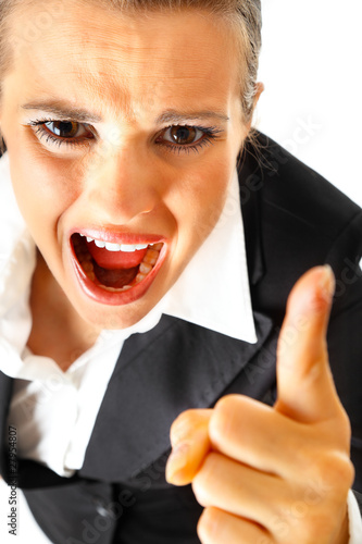 Fotografia, Obraz  Furious modern business woman shaking her finger.