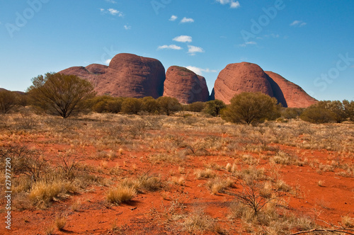 Spoed Foto op Canvas Baksteen panoramic view of Kata Tjuta, australian red center