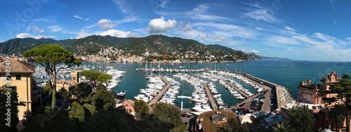 Foto auf Gartenposter Ligurien Italia - Veduta panoramica su Rapallo in Liguria
