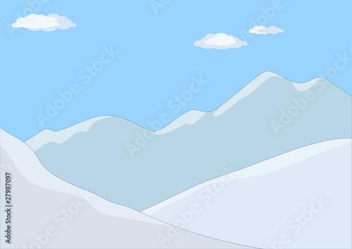 Foto op Aluminium Purper Mountain landscape in day