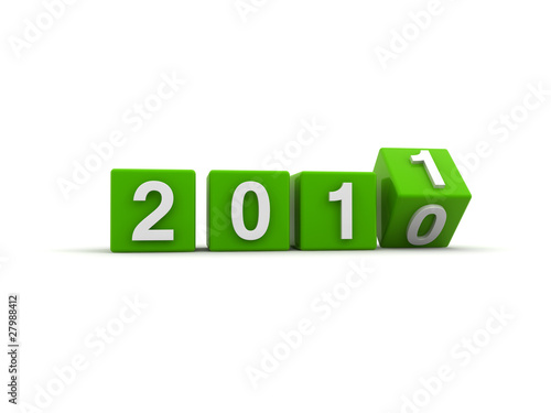 Poster  New year 2011 green