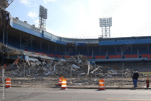 Foto op Plexiglas Detroit Tiger Stadium Demolition