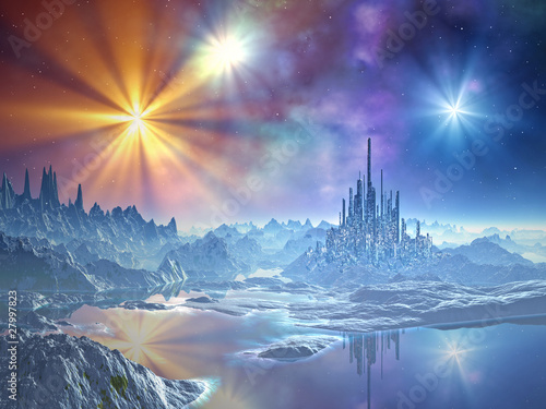 Approach to the Ice Kingdom Canvas-taulu
