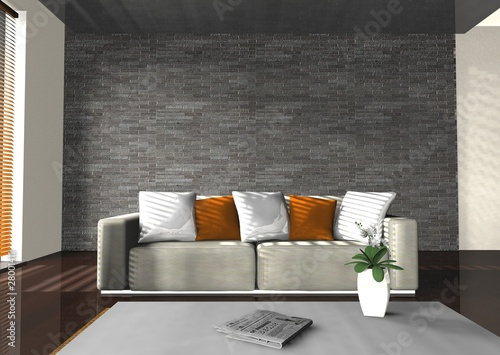 3d couch Poster