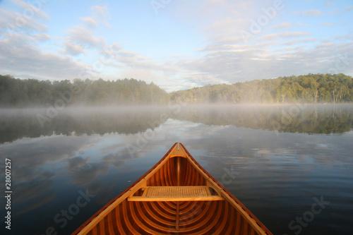 Canvas Print Canoe Tripping