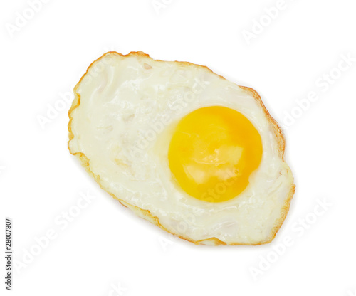 Poster Egg Sunny side up, isolated on white