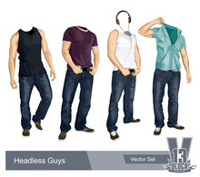 Set Of Headless Guys Isolated ...