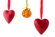 canvas print picture - Hanging hearts